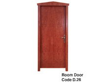 Room  Door made of beech wood covered with veneer, suitable for Home, Hotels and esorts bedroom furnishing. Available by 2 different colors Walnut and Natural color.